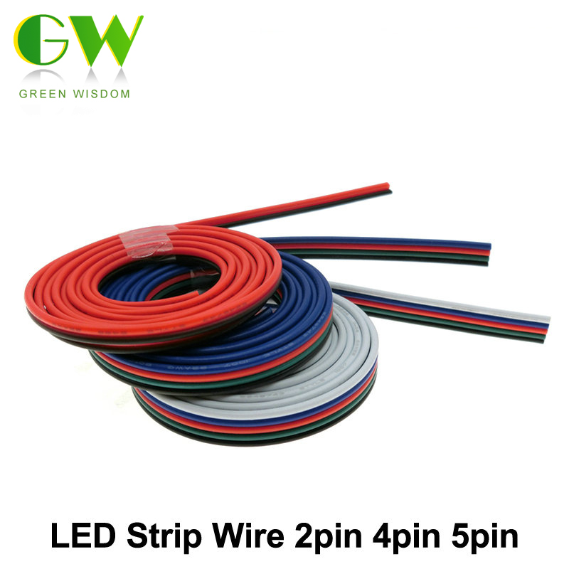 Lighting Wire 2pin 4pin 5pin for Single Color / RGB / RGBW LED Strip Connect. beilai 5m 2pin 4pin 5pin led connector extension wire cable for smd 5050 rgbw rgb led strip single color