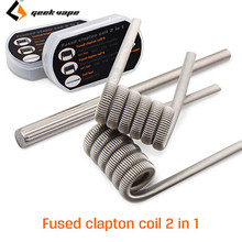 8pcs pack Original Geekvape Fused Clapton Coil 2 in 1 RDA RTA RDTA Atomizer Tank DIY
