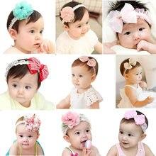 New Born Baby Bebe Newborn Children Kids Baby Girl Pretty Flower Bowknot Head Bow Headband Hair Accessories Bow Headwear Hot