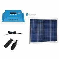 Zonnepaneel Set Panneau Solaire 12 v 50 watt Solarlade Controller 12 v/24 v 10A Tragbare Solar-ladegerät Für Handy Camp Auto Caravan