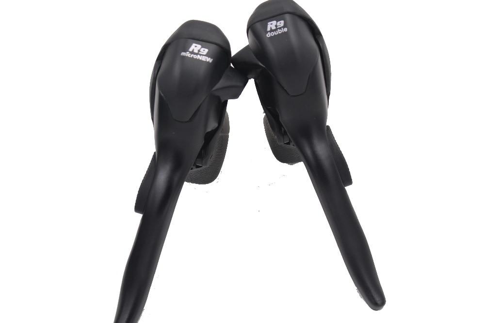 Pro jízdní kolo Microshift Black Double 9-rychlostní / brzdová páka STI Sada pro Shimano Sora Shift Levers