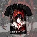 [Xinyu] Camiseta Japón Anime fecha A Live Tokisaki Kurumi Traje Transpirable Cuello Redondo T camisa de Los Hombres Ocasionales de Las Mujeres Camisetas