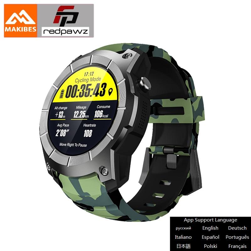 Makibes G05 PLUS GPS Sports Watch 1.3''camouflage Color Screen Smart Watch multi-sport Smart watch Bluetooth Heart Rate Tracker makibes ex18 smart watch orange