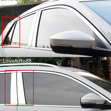 Car Body Middle Column Side Cover Frame Trim Sticker Exterior Accessories Auto Window 8Pcs For Volkswagen VW T-Roc Troc