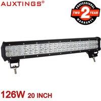 Auxtings 20 126W Waterproof Straight 10 30V Offroad 4x4 Car Led Light Bar 6500K