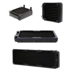 360/240/120/80mm aluminium komputer chłodnicy chłodnica wodna 18 rury CPU wymiennik ciepła