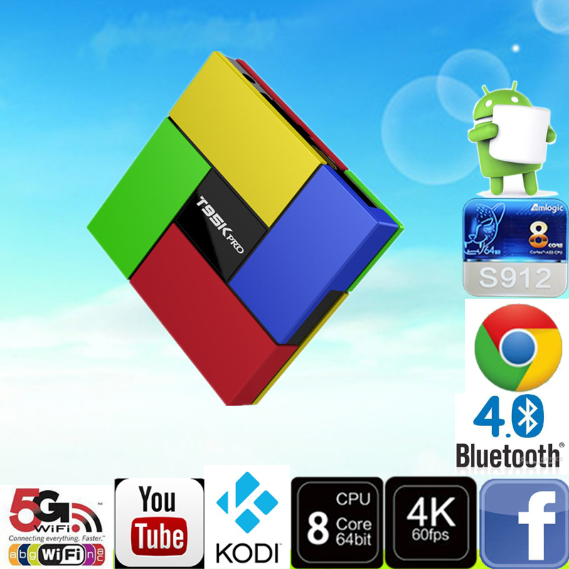 Здесь можно купить  TV Box T95K PRO Amlogic S912 Android TV box Octa Core cortex-A53 KODI Dual Band WIFI Bluetooth 4.0 UHD 4K H.265 VP9 HDR 3D TV Box T95K PRO Amlogic S912 Android TV box Octa Core cortex-A53 KODI Dual Band WIFI Bluetooth 4.0 UHD 4K H.265 VP9 HDR 3D Бытовая электроника