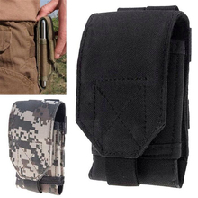 Mobile phone waist bag Large Size Army Camo Mobile Phone Hook Loop Belt Pouch Sleeve Holster