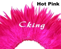 Wholesale 12 bundles(1kg) hot pink Beautiful Rooster feathers 6 8/15 20cm Chicken Feather Strung for Dress Decoration