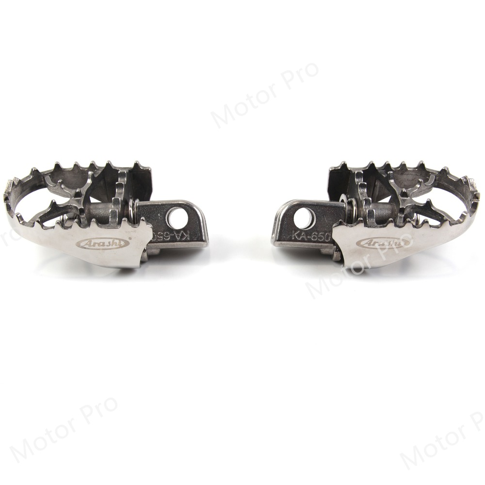 Front Footrests For Kawasaki KLE 650 Versys 2007 - 2016 Motorcycle Rider Foot Rest Peg Pedal 2009 2010 2011 2012 2013 2014 2015