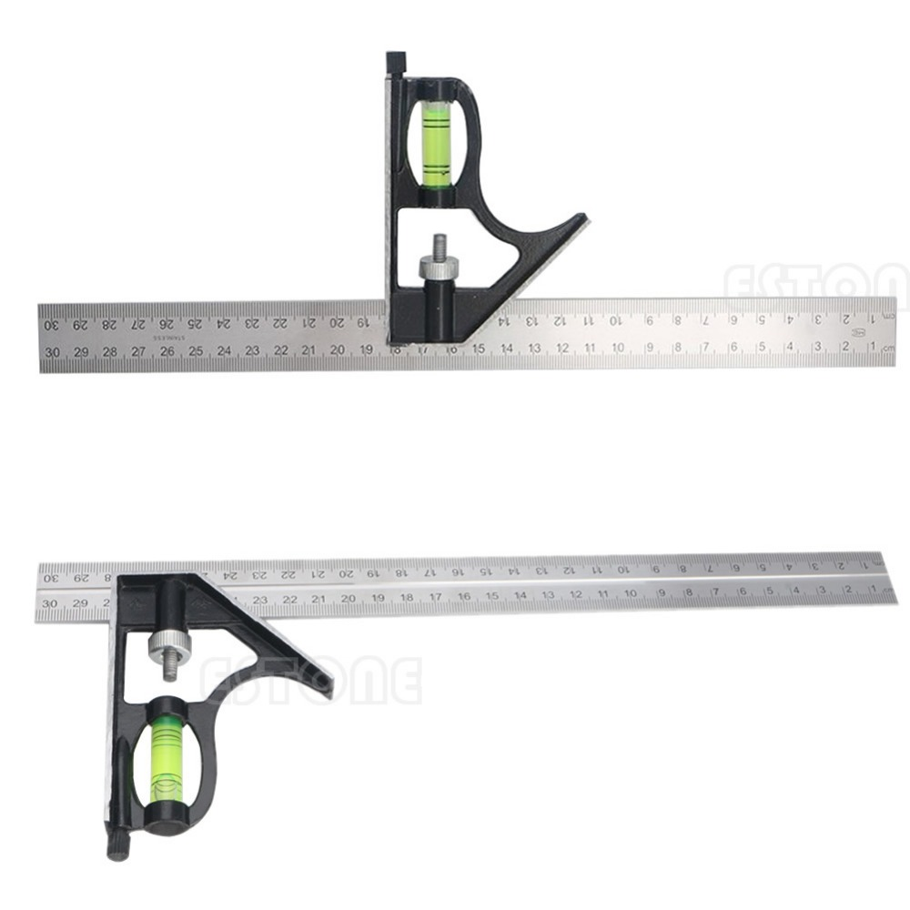 Adjustable Engineers Combination Try Square Set Right Angle Ruler New 300mm(12