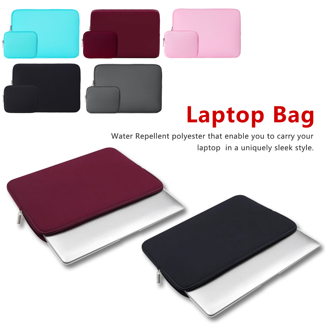 For Laptop Asus Acer HP Lenovo 11 13.3 14 15.6 Inch For Macbook Air 11 13/Pro 13 15 Neoprene Water Repellent Sleeve Cases