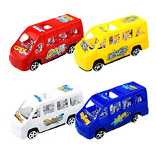 Colorful Pull Back Bus Car Model School to Power Childrens Toys Can Choose Colors