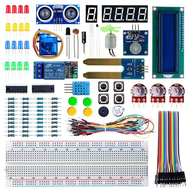 elecrow starter kit for arduino beginners students kids displayelecrow starter kit for arduino beginners students kids display sensor dc motor wires electronic diy 24 lessons with retail box