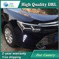 De alta qualidade! daytime Running Luz de Nevoeiro luz de Alta Qualidade LED DRL para Toyota Camry 2015 2016 nevoeiro lâmpada 12 V 6000 K