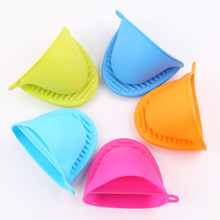1Pc Silicone Heat Resistant Gloves Clips  Kitchen Organizer Insulated Pot Anti-slip Bowel Holder Clip Cooking