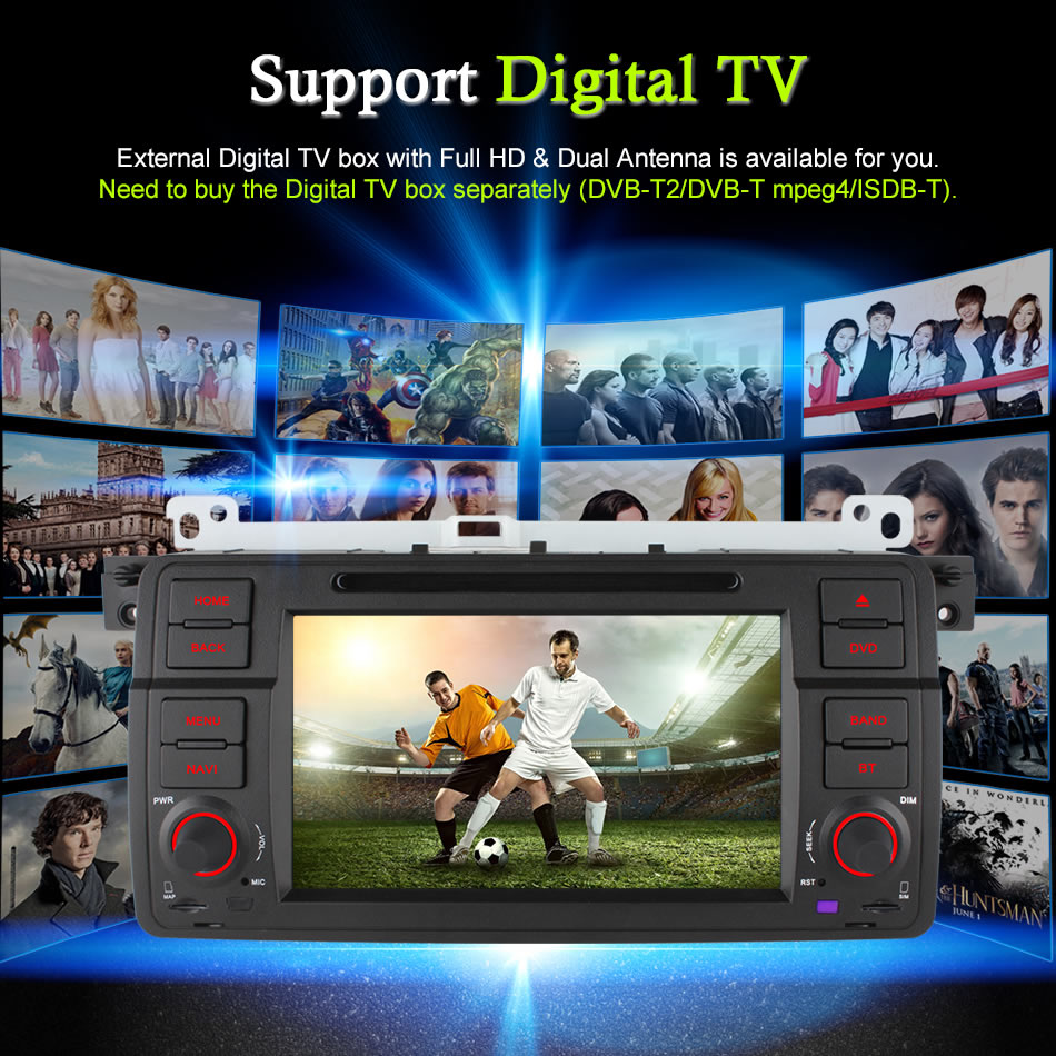 2GB+32GB Android 6.0 Octa Core 4G DAB Car DVD Radio Player For BMW 3 Series E46 M3 1998 1999 2000 2001 2002 2003 2004 2005 2006