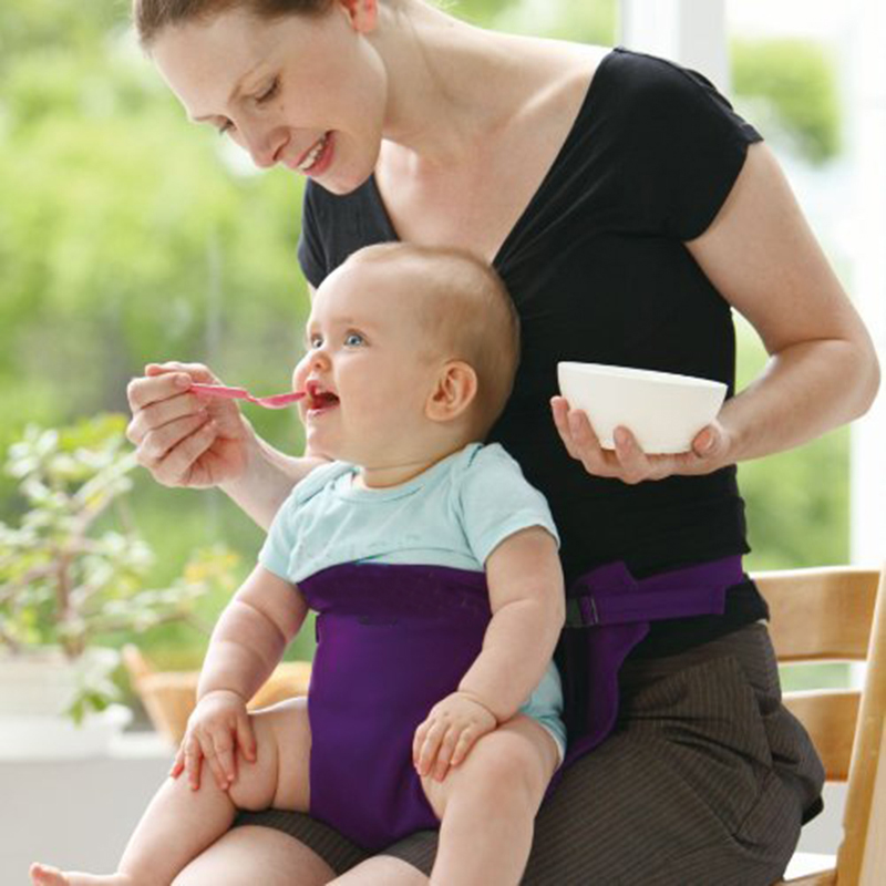 Portable Infant Chair Seat Dining Lunch Seat Safety Belt Stretch Wrap Feeding Chair Harness baby Booster Seat baby feeding Gift (1)