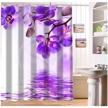 W522 #114 Personnalisé Élégant Coloré Orchidée Fleur #6 Moderne Rideau De Douche salle de bain Étanche Livraison Gratuite # fj114