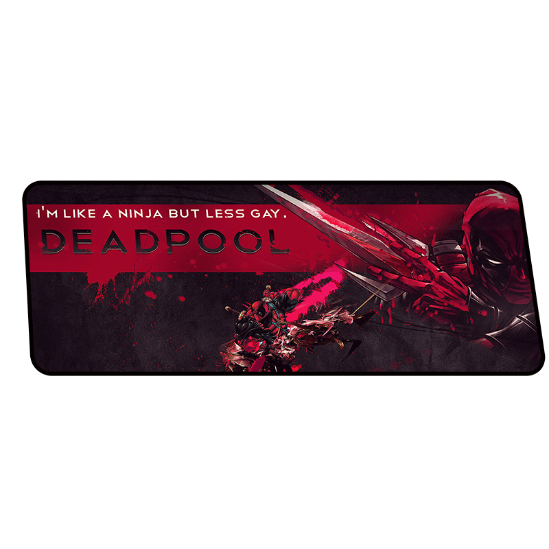 Deadpool mouse pads 900x400x4mm Boy Gift pad to mouse notbook computer mousepad wrist rest gaming padmouse gamer to mouse mat 2018 new samdi wood mouse pad with pen slot luxury computer mouse pads birch walnut mouse mat for apple mouse apple pen pencil