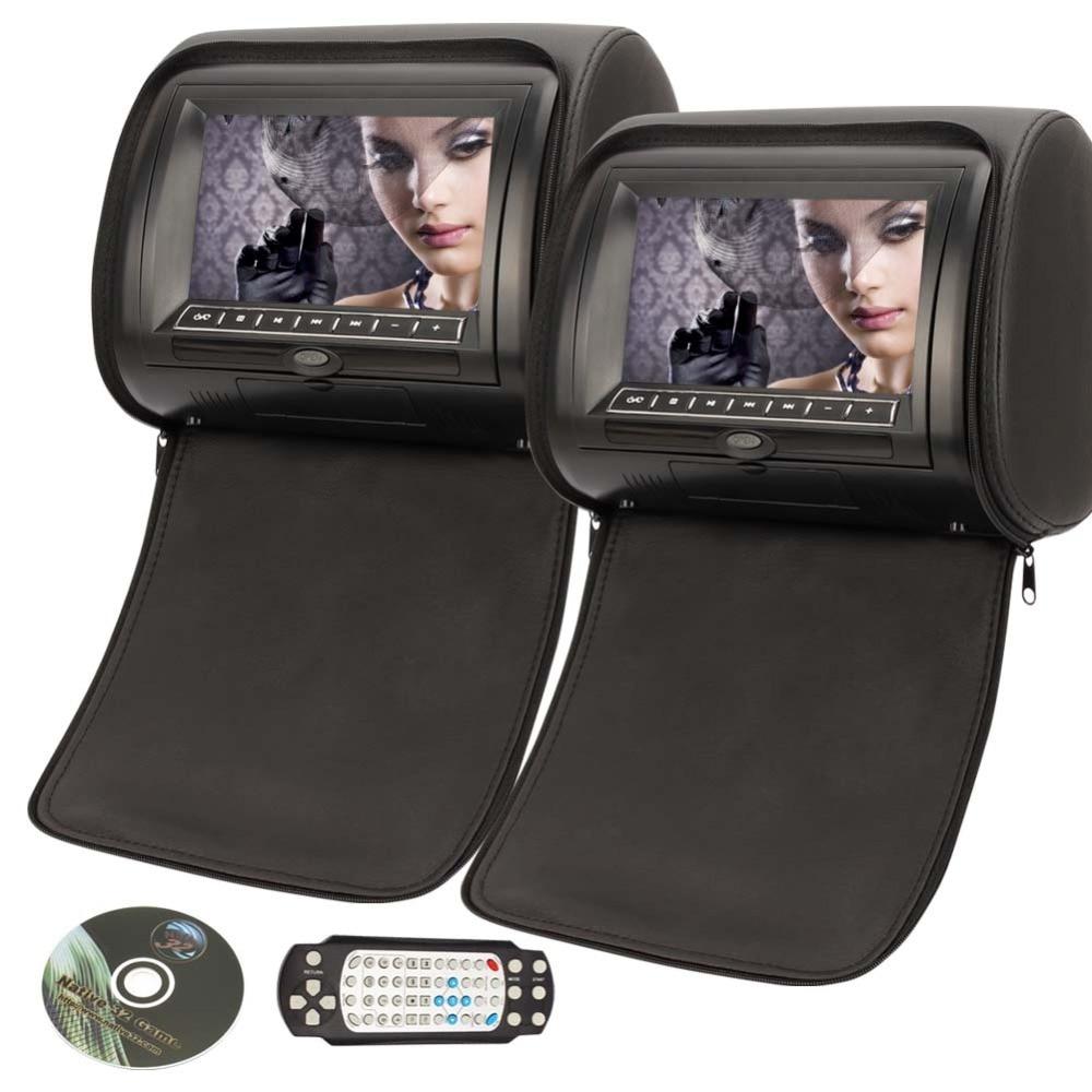 7 Inch Leather-Style Car Headrest DVD HD Digital Screen SD/USB//FM Car Monitor for vw golf 5 kia ceed bmw e39 suzuki swift энциклопедия таэквон до 5 dvd