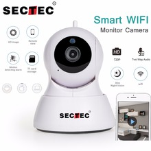 SECTEC 720P IP Camera 1MP Mini WIFI Home Security Camera Video Monitor Network Cam Wireless Baby Monitor Mobile Remote