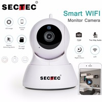 SECTEC 720P IP Camera 1MP Mini WIFI Home Security Camera Video Monitor Network Cam Wireless Baby