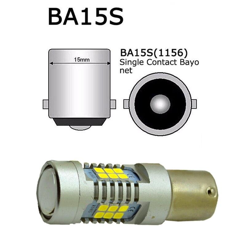 10 pièces 1156 P21W BA15S S25 21 SMD LED Auto frein lumière voiture secours feux arrière indicateur de Direction arrière 12/24 V lumière LED