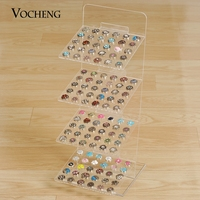Vocheng Four Layers Detachable Clear Acrylic Rectangle Display Stand Jewelry for Ginger Snaps NN 477