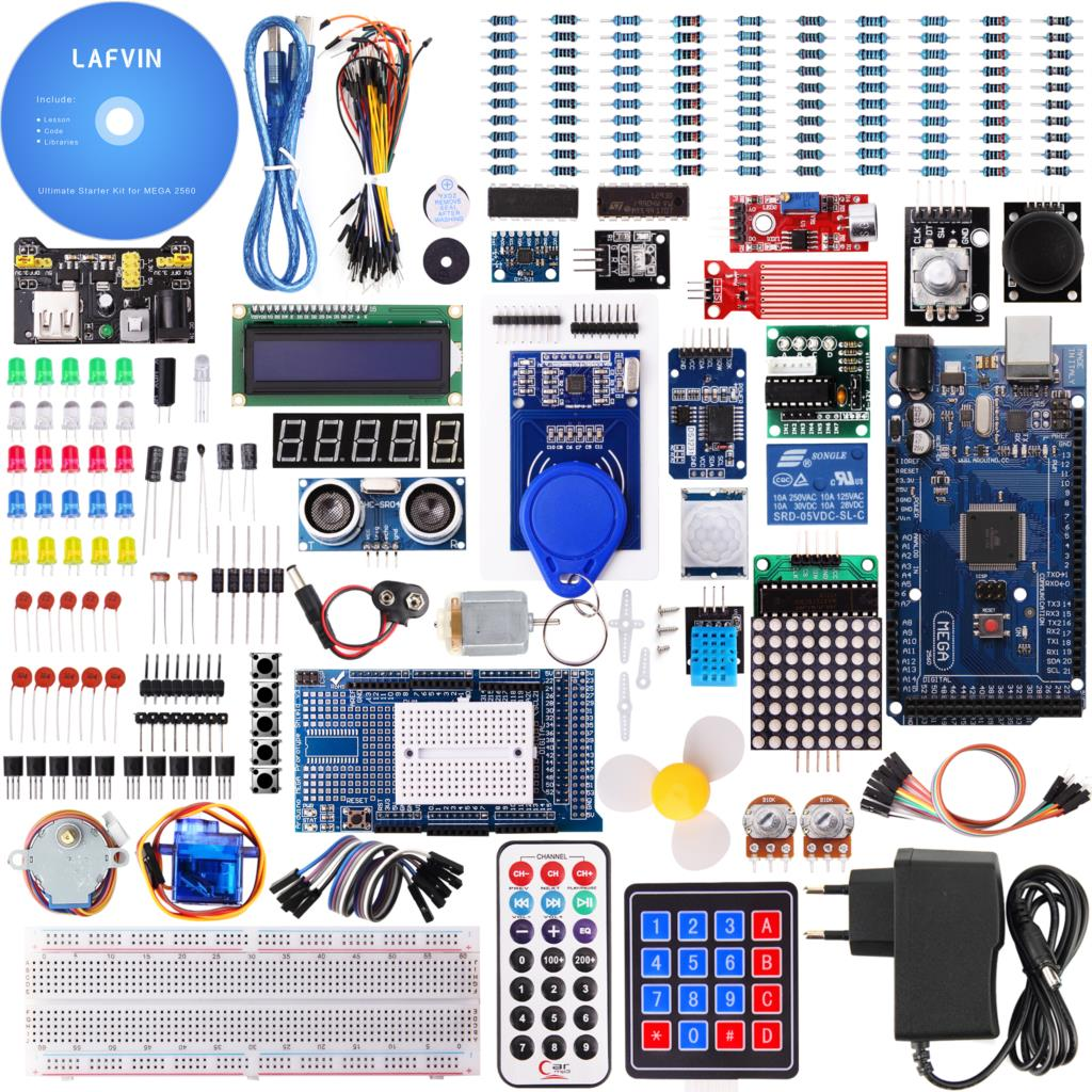 LAFVIN Mega 2560 Project The Most Complete Starter Kit with Tutorial for Arduino-in Integrated Circuits from Electronic Components & Supplies