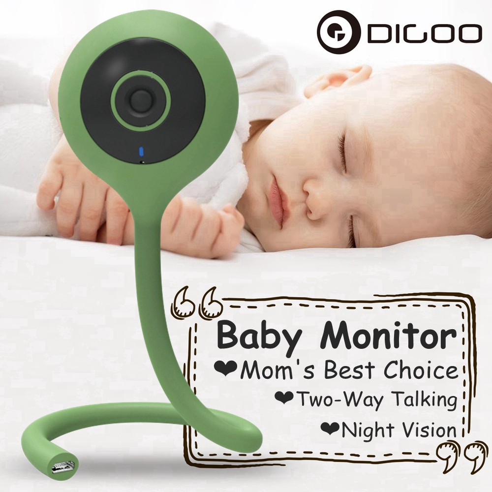 DIGOO 2.1mm DG-QB0 720P Wireless WIFI Smart Home IP Camera Baby Monitor For Babies Kid Care Convenient Three Color Mini Flexible