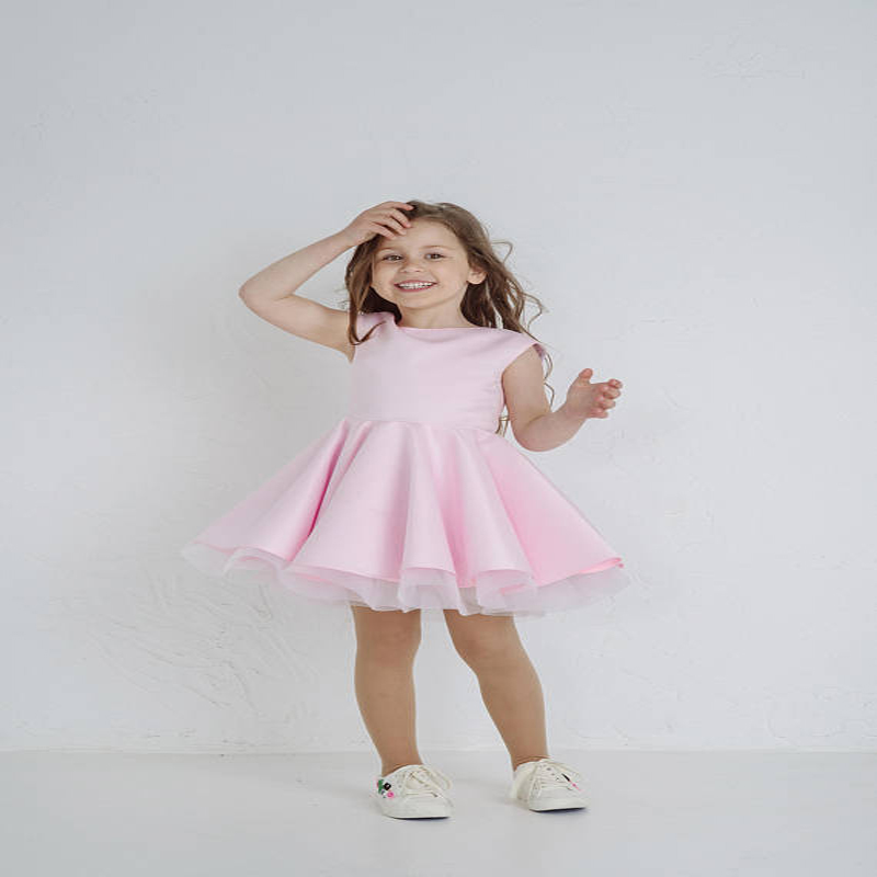 все цены на Backless Dress Party Sleeveless A-Line Satin Flower Girl Dresses Pink Party Girl Dress Ivory Mother Daughter Dresses For Girl онлайн