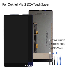 Original For Oukitel Mix 2 LCD Display Touch Screen Digitizer For Oukitel Mix 2 Display Screen LCD Phone Parts Free Tools original used oukitel k7000 lcd display screen touch screen frame for oukitel k7000 mtk6737 5 0 hd 1280x720 free shipping