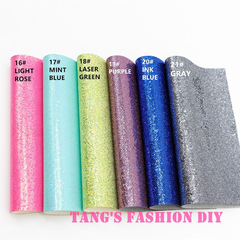 10pcs-High Qility DIY маленькая сетка блестящая синтетическая кожа (20×22 см за шт) можно выбрать цвет