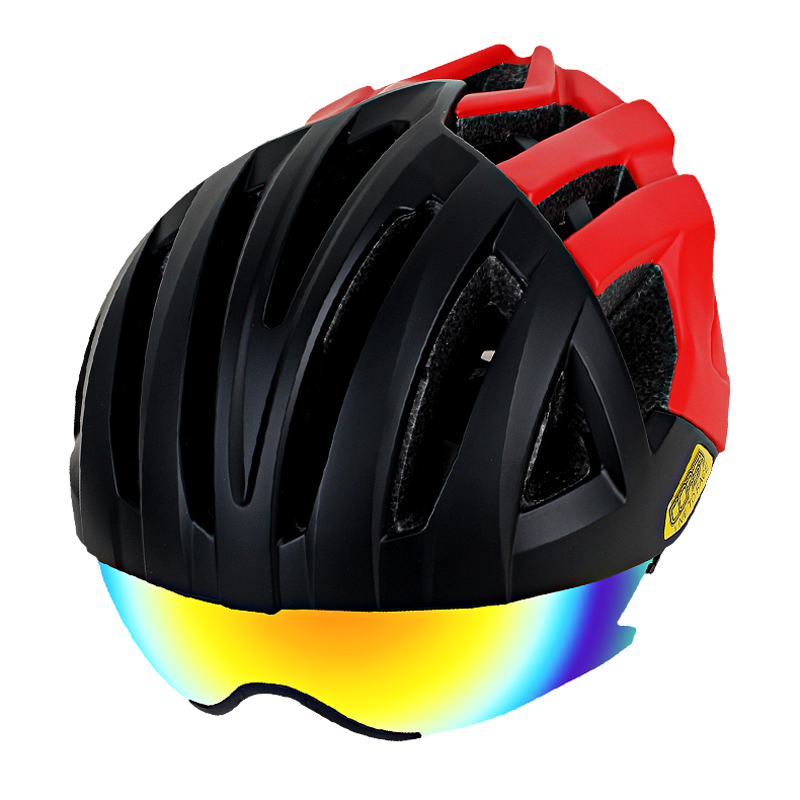 Cycling helmet multi-function riding helmet smart bicycle helmet Magnetic helmet goggles helmet trespass helmet