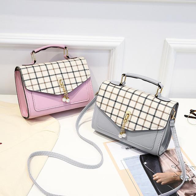 Women Bag 2019 New Plaid Handbag Fashion Flap Small Crossbody Bags for Women Messenger Bags Leather Ladies Hand Bags