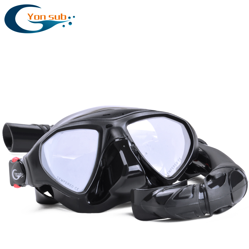 цена Professional Scube Underwater Hunting Spearfishing Diving Mask Low Volume Silicone Tempered Glass Snorkelling Diving Mask Set