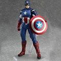 Um pedaço Figma 226 216 The Avengers Figuras Super Herói Capitão América e Thor Toy Collectible Figuras de Ação Brinquedo