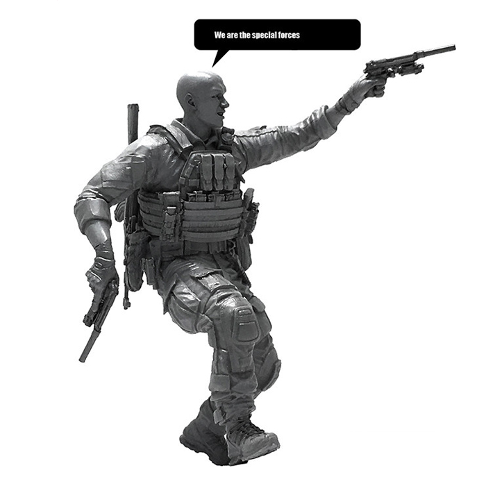 Wenhsin The model of 1/35 U.S. Navy Seals resin soldier military interests of childrens toys decoration LOO-13