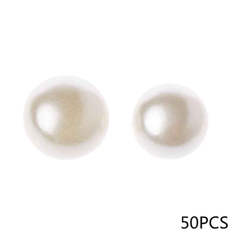 50pcs 10mm 11mm Round Sewing Pearl Buttons For Clothing Sewing Accessories Clothing Scrapbooking Garment DIY Apparel Tool