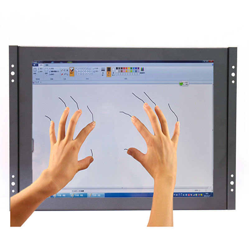 Industrial open frame 12 inch capacitive touch screen monitor 1024 768 with VGA HDMI USB interface