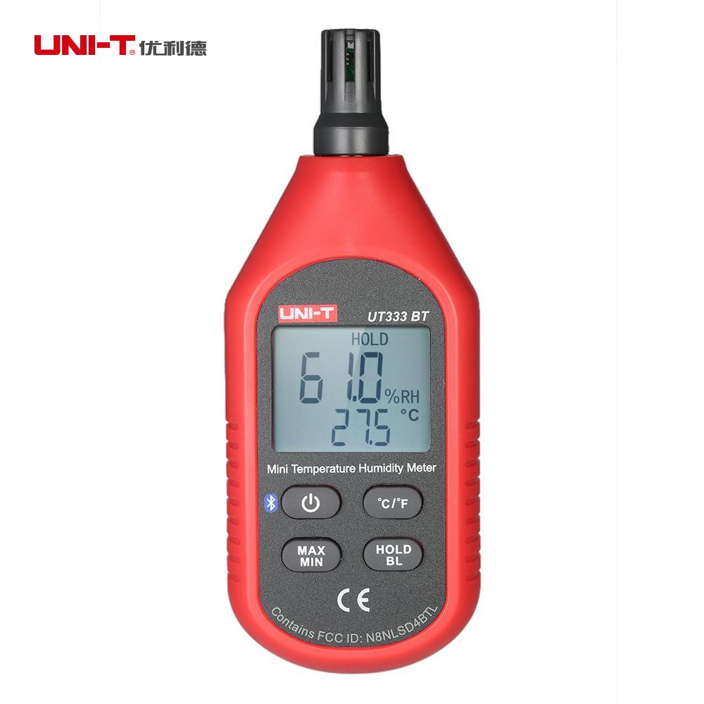 UNI-T UT333BT Thermometer Hygrometer bt Digital LCD Mini Temperature Humidity Meter Moisture Meter Sensor Thermometer nktech ut333bt bluetooth mini lcd digital air temperature humidity meter thermometer hygrometer gauge tester ut333 upgrade