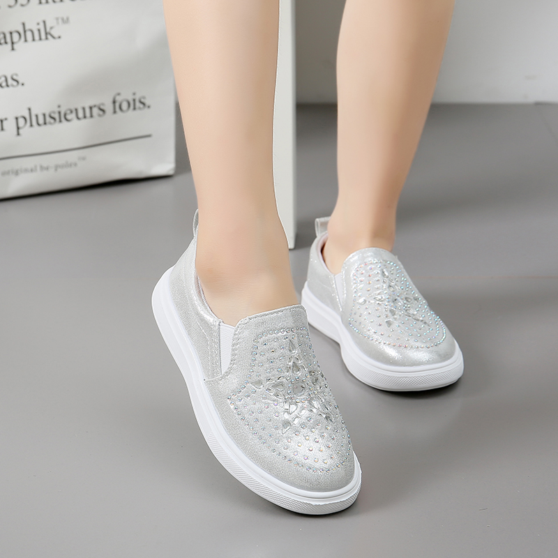 Lente Kinderen Instappen Schoenen Meisjes Casual Sneakers Glanzende - Kinderschoenen - Foto 3
