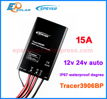 Great Low Price to Korea/Japan/Singapore,MPPT Tracer3906BP 15A 15amps Solar portable controller 12V 195W 24V 390W panels apply