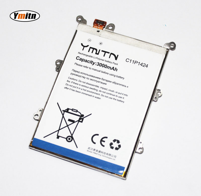 New Ymitn 3000mAh Cell Phone Battery Li-ion Battery For ASUS ZenFone 2 ZE551ML ZE550ML Z00ADA Z00ADB With Iron frame C11P1424