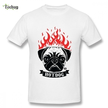 Leisure Pug On Fire Hot Dog T-shirt For Boy Leisure 3D Print For Boy Graphic Top Tees Round Neck Pure Cotton Tees все цены