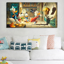 Scrooge McDuck Golden Fleece HD Canvas Painting Print Living Room Home Decor Modern Wall Art Oil Painting Poster Salon Pictures billie eilish fan art poster canvas painting print living room home decor modern wall art oil painting salon pictures framework