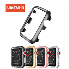 Suntaiho for iWatch series 4 3 2 PC protective frame Case cover Apple Watch 38 40 44 screen protector