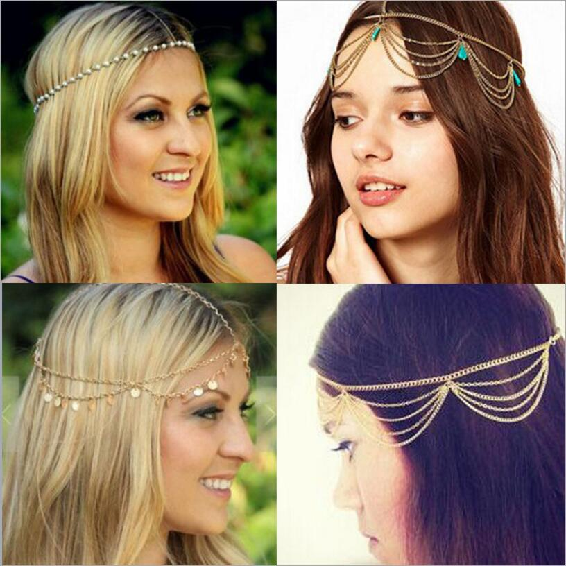 US $1 32 5% OFF|2018 Women Haimeikang Bohemian Hippie Headband Dream  Headdress Fashion Indian Headbands Hair Accessories Pendant-in Women's Hair