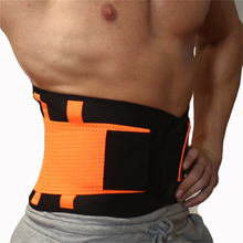 Elastic Nylon & Neoprene Belt Ajustable Waist Support Brace Fitness Gym Lumbar Back Supporter Protection S-2XL
